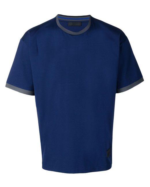 メンズ Prada コントラスト Tシャツ Blue