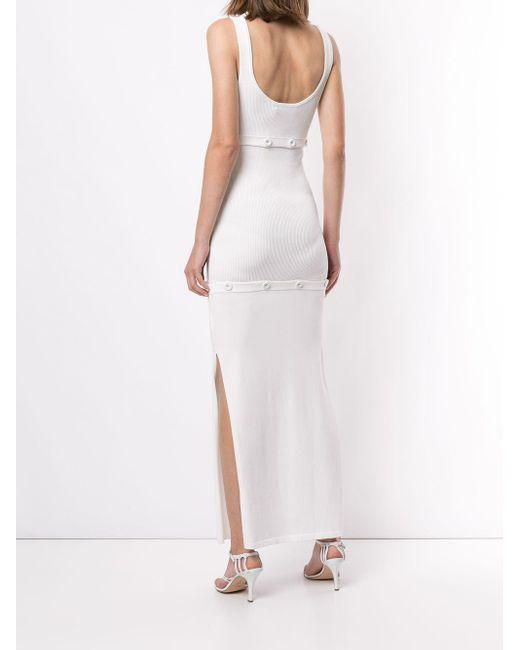 Christopher Esber リブニット ドレス White