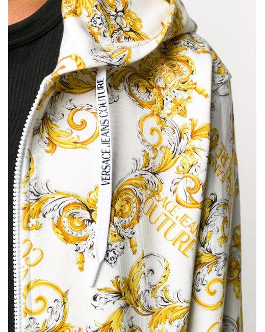 Худи С Принтом Logo Baroque Versace Jeans для него, цвет: White