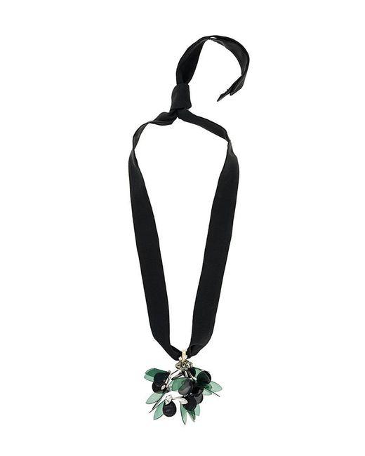 Marni | Black Pendente Floreale | Lyst