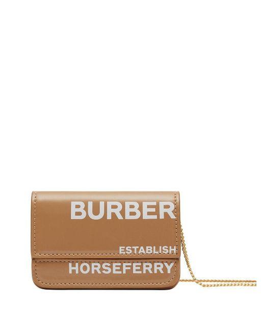 Картхолдер С Принтом Horseferry И Цепочкой Burberry, цвет: Brown