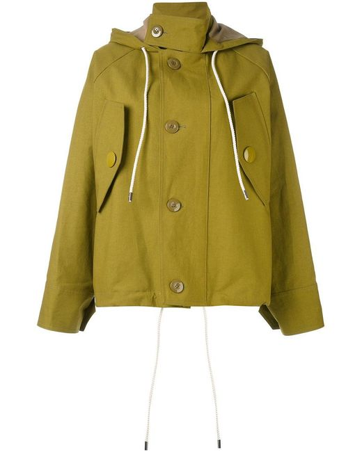 Marni | Green Oversized Hooded Jacket | Lyst