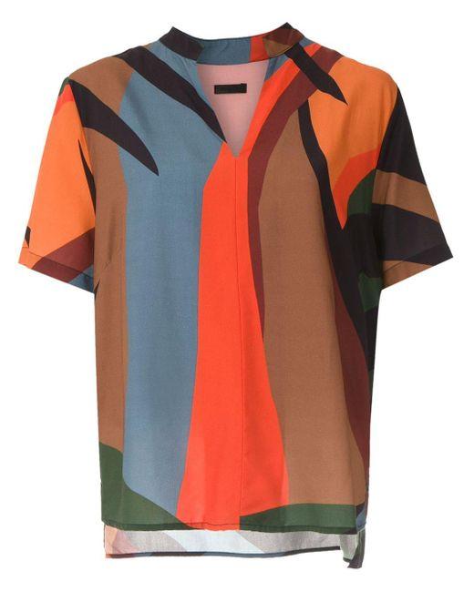 Camicia Tropicolor con stampa di Osklen in Multicolor