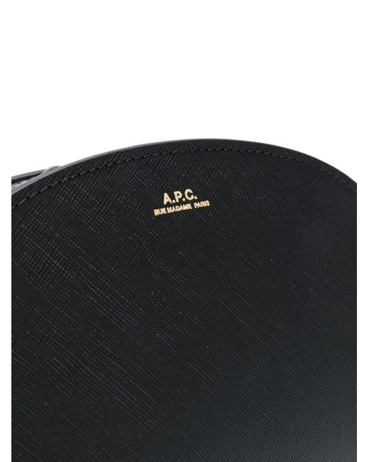A.P.C. Black Half-moon Shoulder Bag