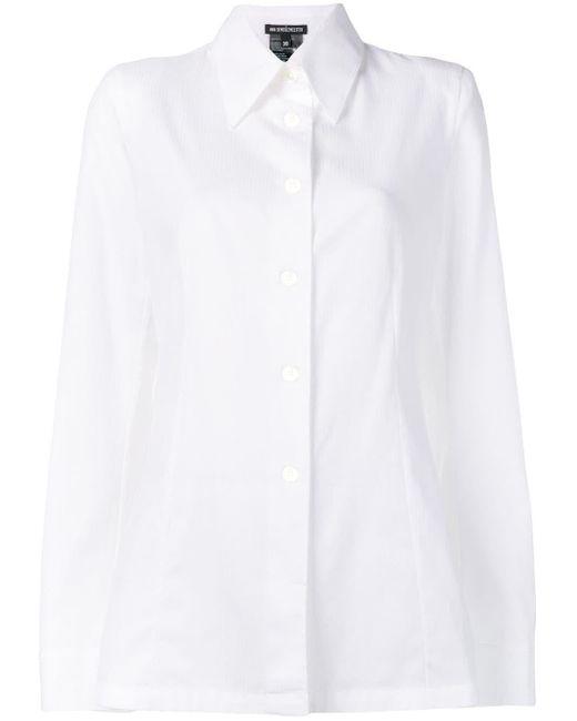 Ann Demeulemeester White Pointed Collar Shirt