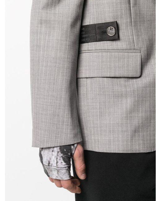 メンズ Off-White c/o Virgil Abloh テーラードジャケット Gray