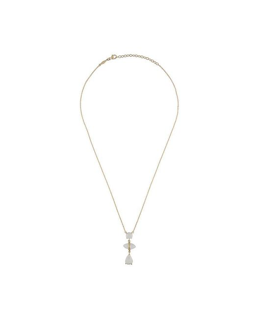 Jacquie Aiche - White '3 Vertical Moonstone Drop' Necklace - Lyst