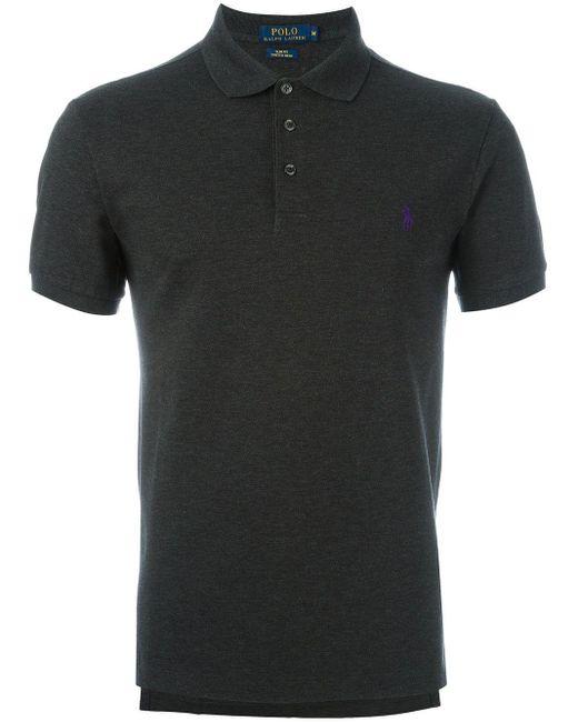 メンズ Polo Ralph Lauren ロゴ刺繍 ポロシャツ Black