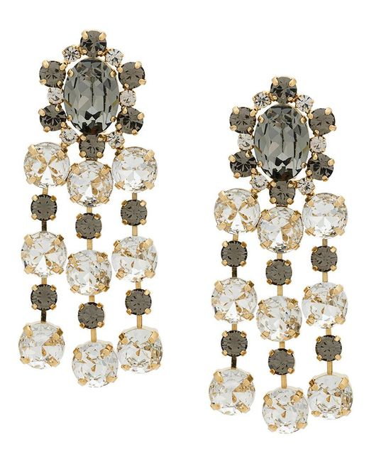 Ca&Lou | Metallic Crystal Embellished Earring | Lyst