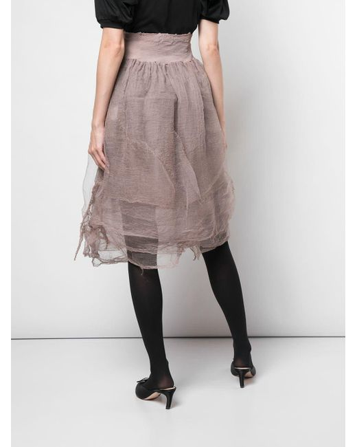 Marc Le Bihan ギャザーウエスト スカート Multicolor