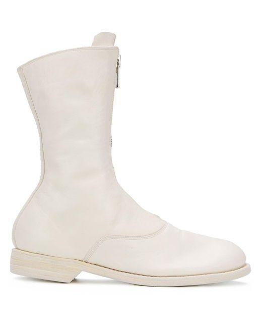 Guidi ファスナー ブーツ White
