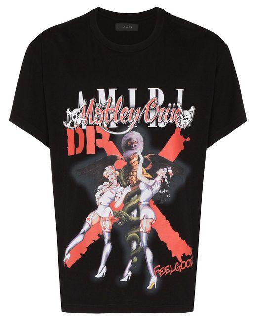 メンズ Amiri Mötley Crüe Dr Feelgood Tシャツ Black