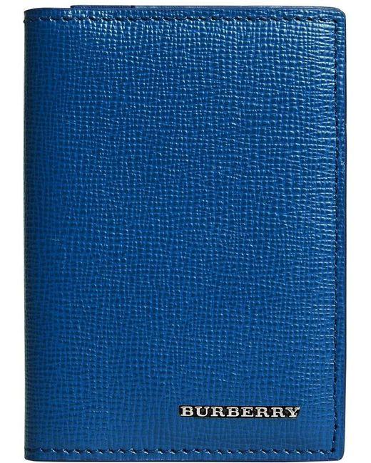 Burberry - Blue London Folding Card Case for Men - Lyst