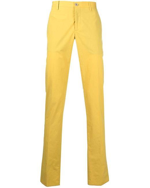 メンズ Etro ストレート テーラードパンツ Yellow