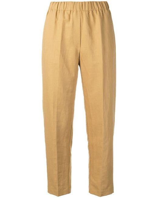 Forte Forte - Yellow Straight-cut Trousers - Lyst