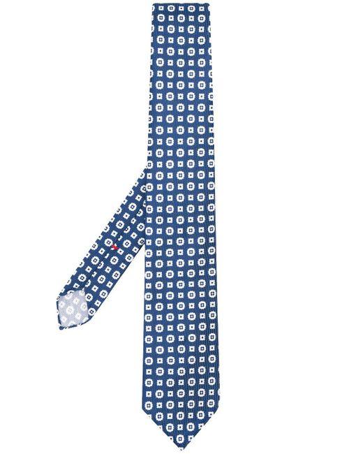 Галстук С Геометричным Узором Dell'Oglio для него, цвет: Blue