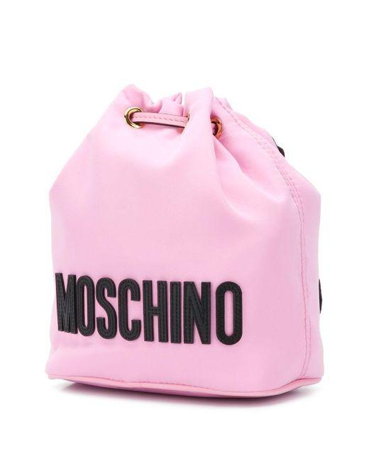 Moschino テディベア バケットバッグ Pink