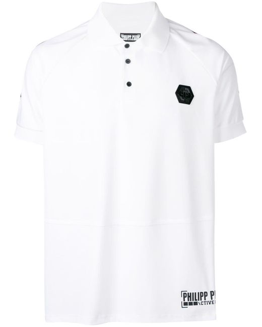 メンズ Philipp Plein ロゴ ポロシャツ White