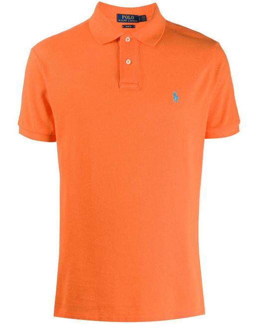 メンズ Polo Ralph Lauren ショートスリーブ ポロシャツ Orange