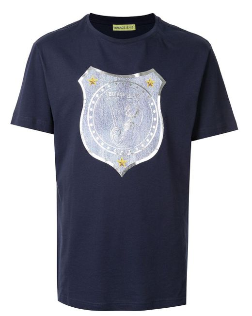 メンズ Versace Jeans ロゴ Tシャツ Blue