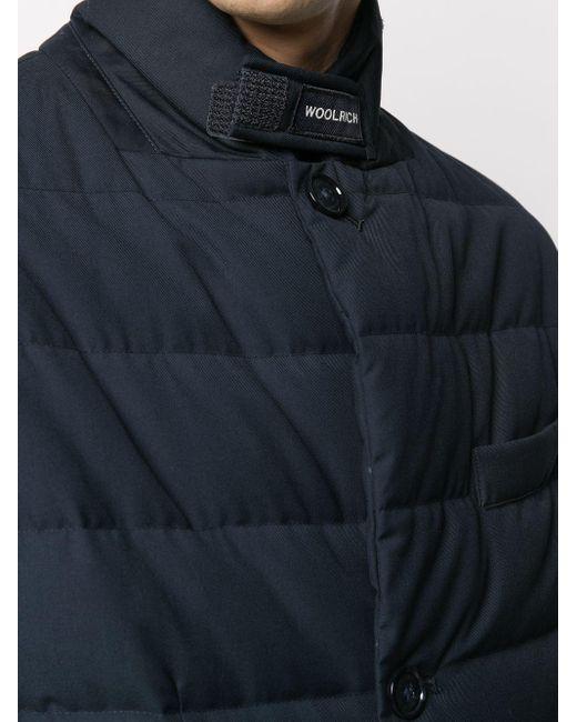 Стеганая Куртка-пуховик Woolrich для него, цвет: Blue