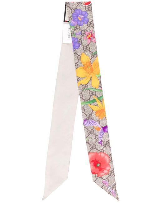 Gucci Special フローラル シルクスカーフ Multicolor