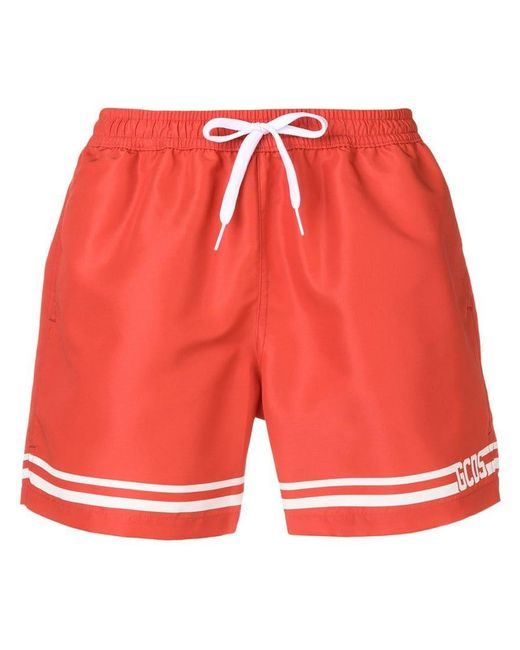 c5a2ad9ca47 Lyst - Gcds Logo Swim Shorts in Red for Men - Save 9%