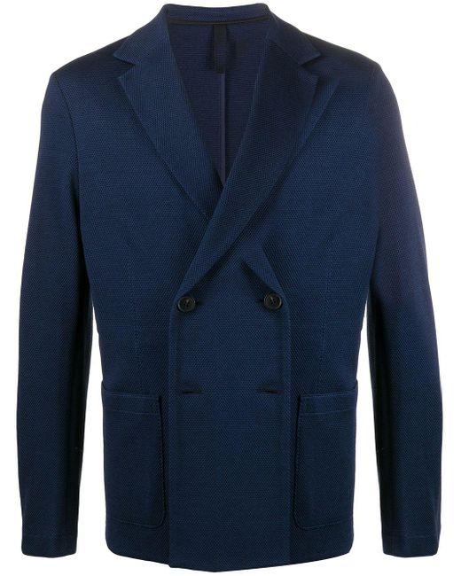メンズ Harris Wharf London Rice Stitch ジャケット Blue