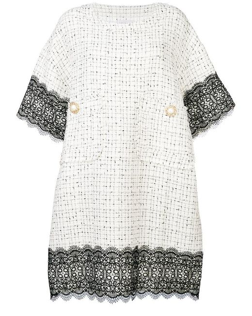 Faith Connexion | White Embellished Buttons Dress | Lyst