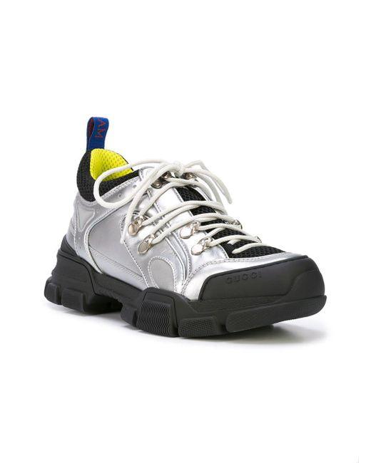 25b316bd3ca ... Gucci - Metallic Flashtrek Sneakers - Lyst ...