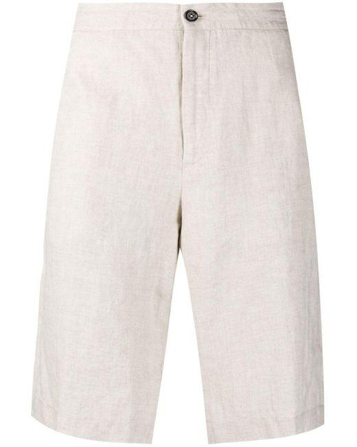 Ermenegildo Zegna Natural Linen Knee-length Shorts
