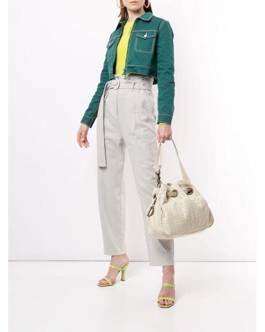 Dior カナージュ ハンドバッグ White