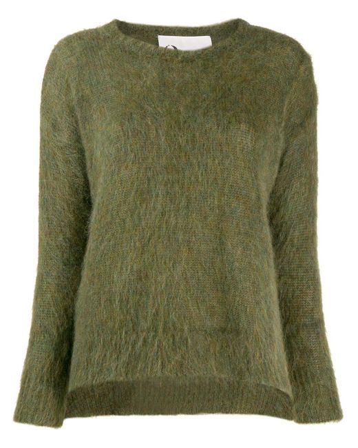 8pm Green Denebola Furry Sweater