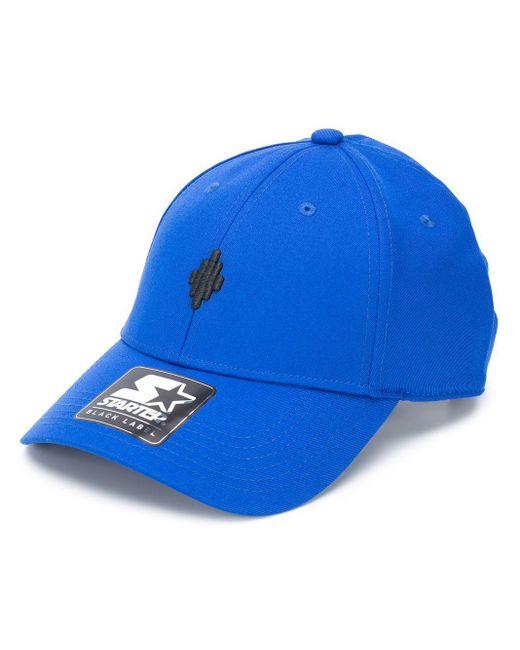 メンズ Marcelo Burlon Cross ロゴ キャップ Blue