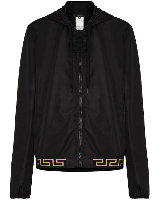 Легкая Куртка С Узором Greca Versace, цвет: Black
