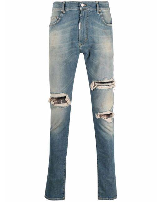 Represent Schmale Distressed-Jeans in Blue für Herren