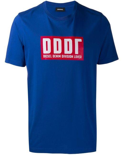 メンズ DIESEL Dddrロゴ Tシャツ Blue