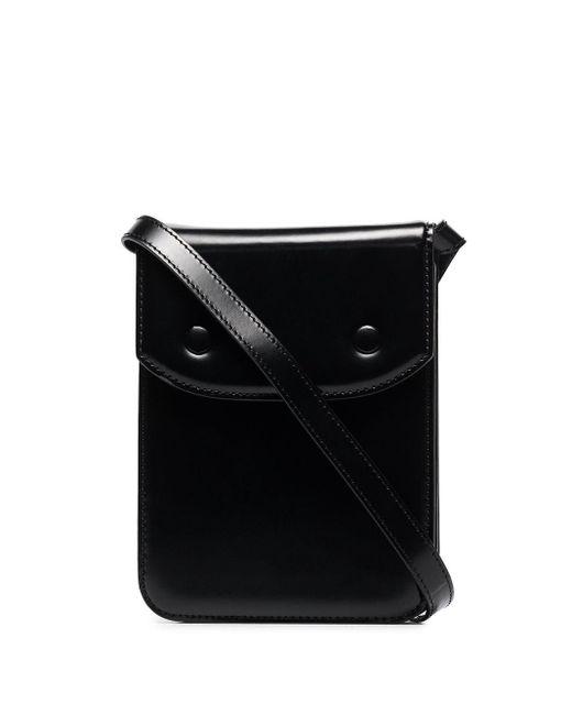 メンズ Maison Margiela レザーショルダーバッグ Black