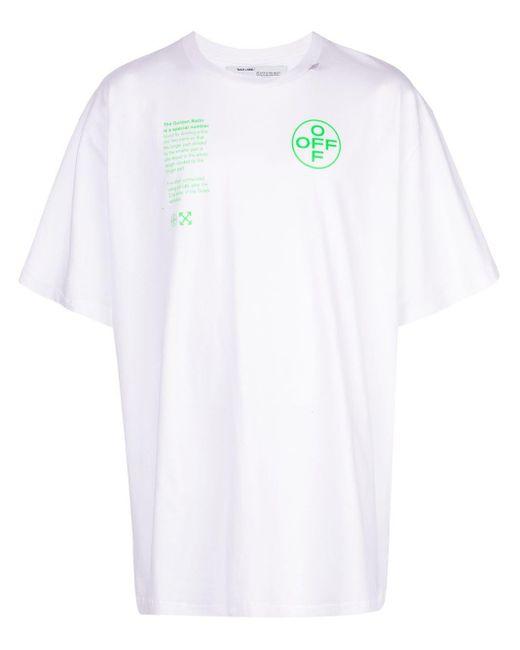 メンズ Off-White c/o Virgil Abloh アーチシェイプ Tシャツ White