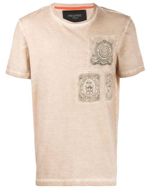メンズ Mr & Mrs Italy プリント Tシャツ Multicolor