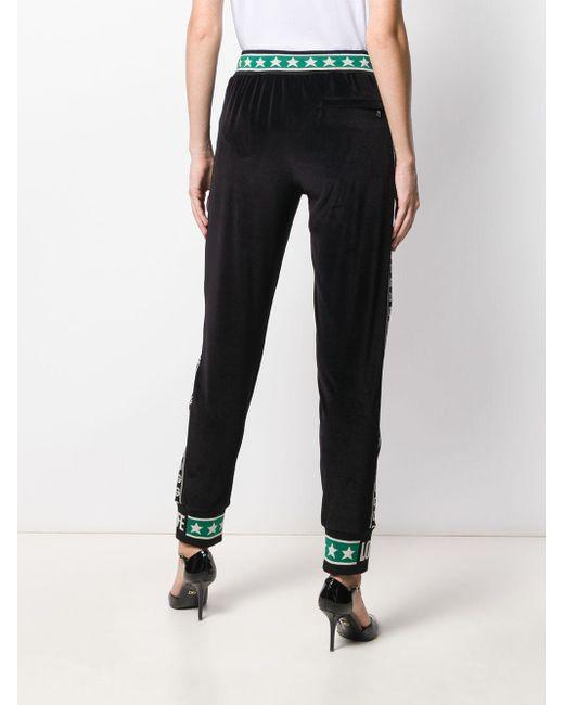 Pantalon de jogging à bandes logos Dolce & Gabbana en coloris Black