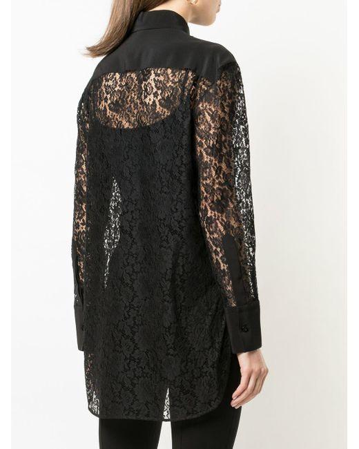 Givenchy レースシャツ Black