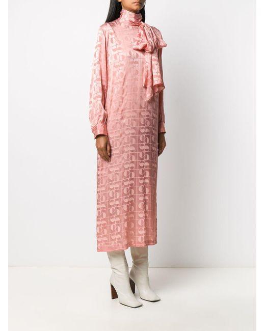 Ports 1961 プリントドレス Pink