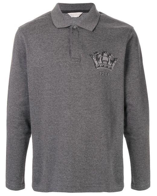 メンズ Gieves & Hawkes ロングスリーブ ポロシャツ Gray