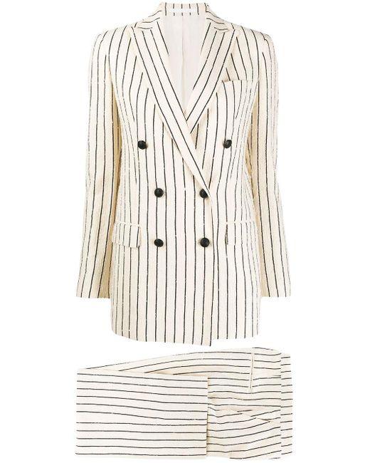 Tagliatore Multicolor Striped Two-piece Suit