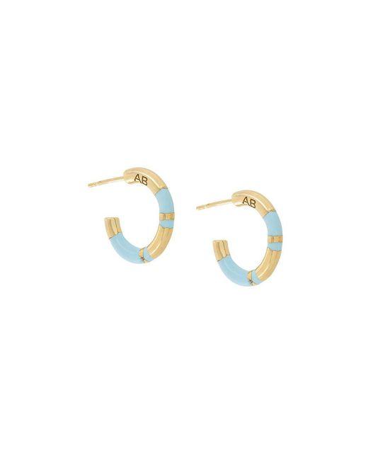 Aurelie Bidermann - Metallic Small Hoop Positano Earrings - Lyst