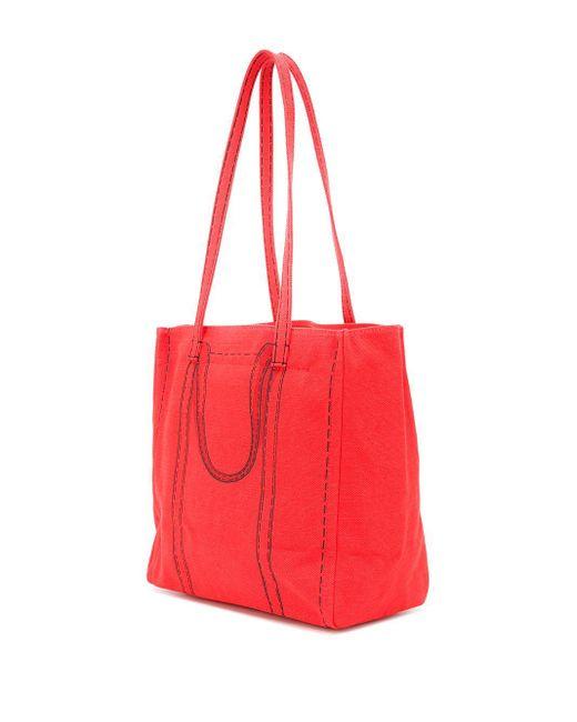 Сумка-тоут The Trompe L'oeil Tag Marc Jacobs, цвет: Red