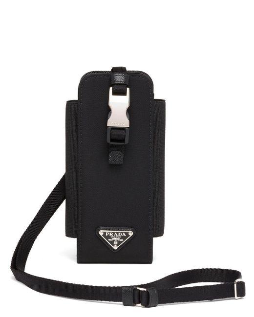 Prada Black Re-nylon Smartphone Case