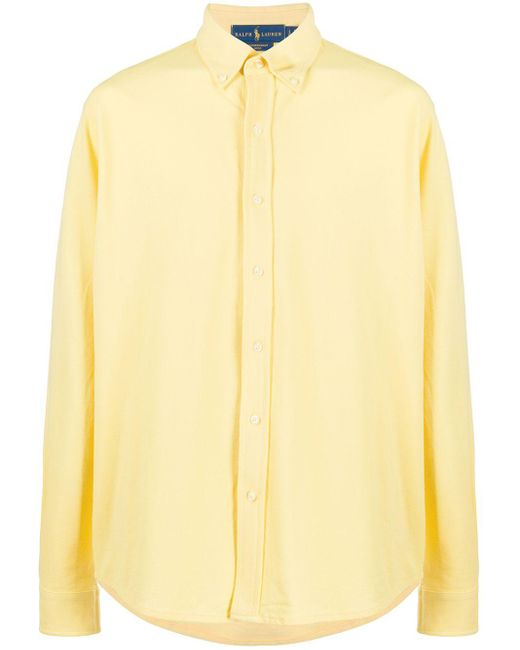 メンズ Ralph Lauren メッシュシャツ Yellow