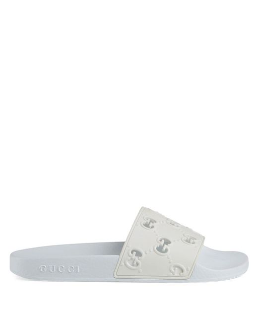 Gucci 【公式】 (グッチ)オンライン限定 ウィメンズ ラバー GG スライドサンダルホワイト ラバーホワイト White